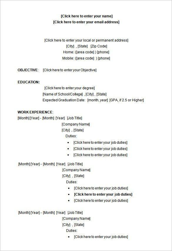 Resume Templates Microsoft Word 2010 Microsoft Resume Template - microsoft word 2010 resume template