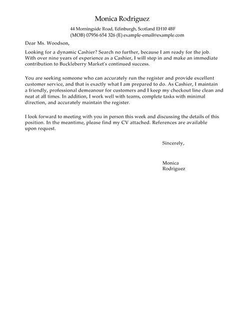 Cover Letter Cashier Cashier Cover Letter Example Icoverorguk - sample customer service cover letter example