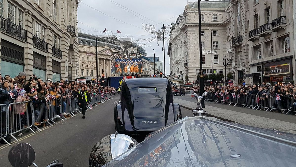 Driving in the London New Year's Day Parade 2019 Rolls