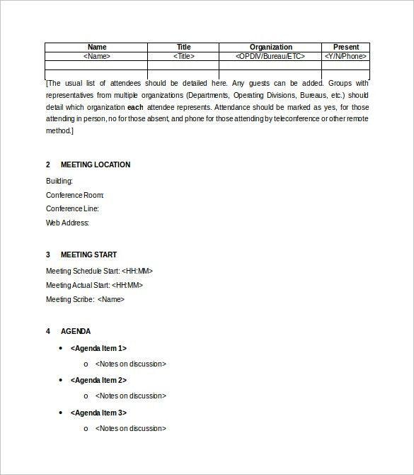 Meeting Summary Template Word [Nfgaccountability.com ]  Meeting Summary Template Word