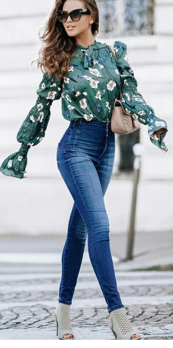 Nice floral shirt with jeans