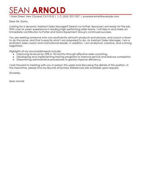 Athletic Equipment Manager Cover Letter Cvresumeunicloudpl