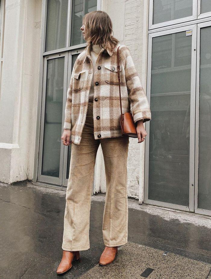 Meilleures vestes à carreaux High Street: Rachael Clifton porte une veste à carreaux