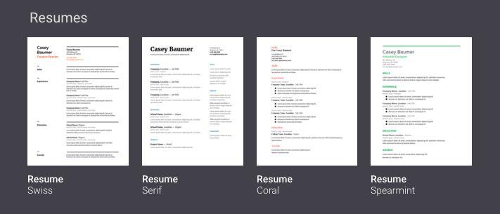 Resume Template Google 9 Blank Resume Template Doc Cashier - resume templates google drive