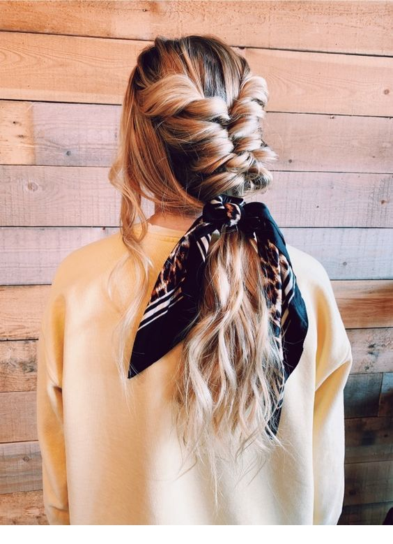 Large braid and a nice scarf
