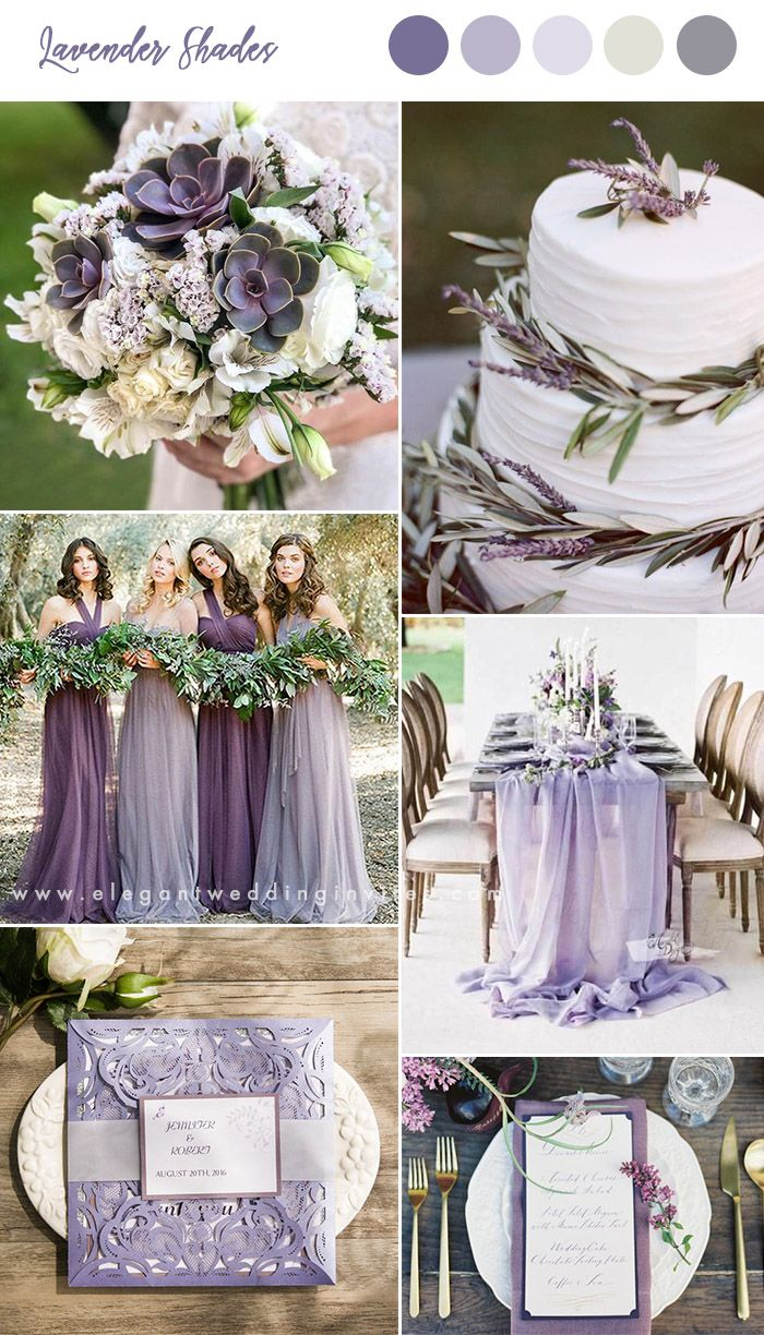 lavender shades spring and summer wedding colors