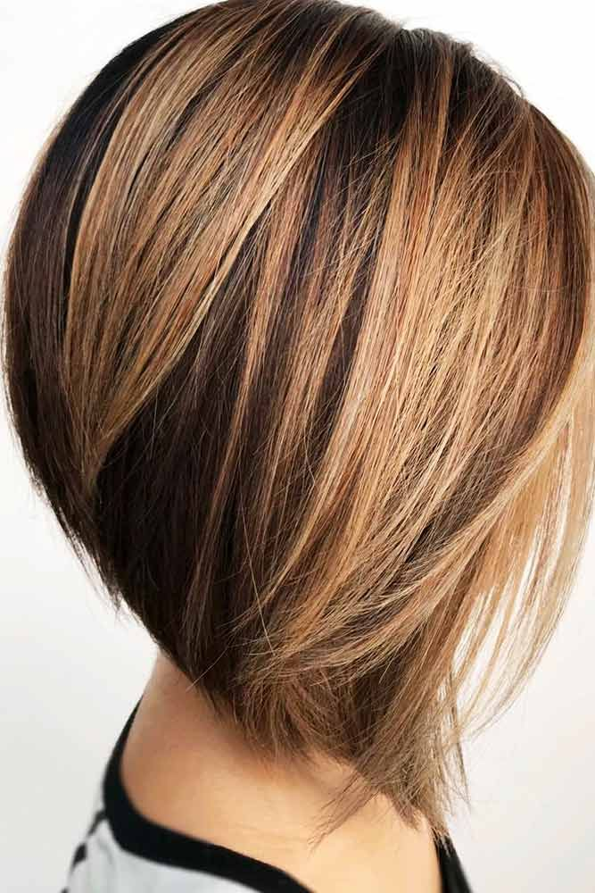 Straight Ombre Hairstyle #ombrehair #straighthair ★ All the inverted bob hairstyles: stacked, choppy, short, curly, with side bangs, with layers, are gathered here! #glaminati #lifestyle #invertedbob