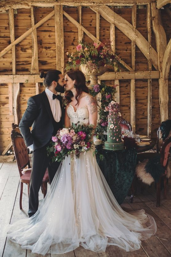 Opulent Barn Holiday Wedding Inspiration – Kerry Ann Duffy Photography 17