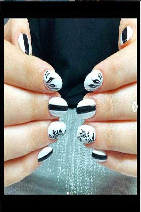 30+ Amazing Black And White Nail Art Designs 2019 – Fashonails
