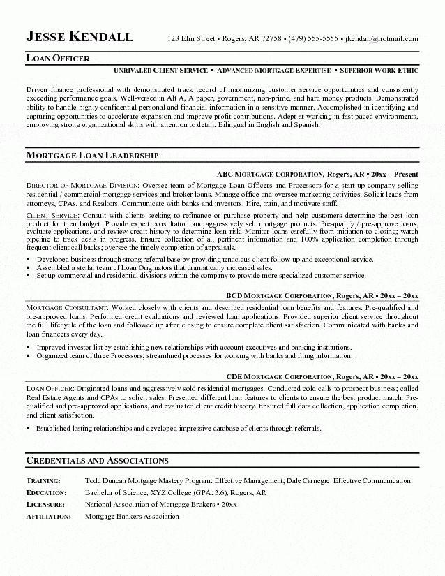 loan assistant sample resume loan officer resume example sample - Loan Officer Assistant Sample Resume