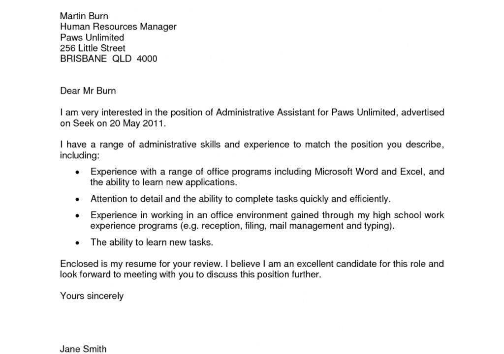 speculative cover letter examples