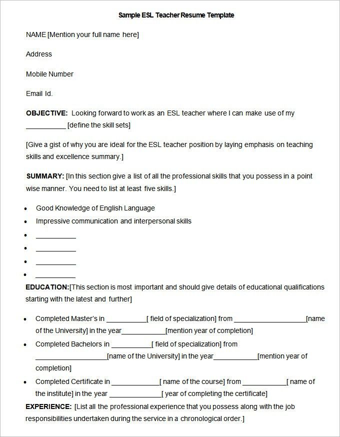 esl teacher resume examples examples of resumes - Esl Teacher Resume Examples