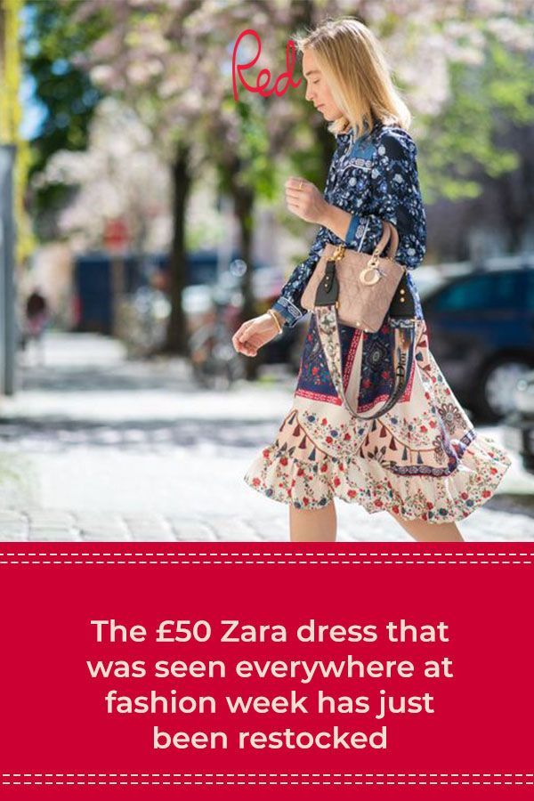 The £50 Zara dress that was seen everywhere at fashion week has just been restocked