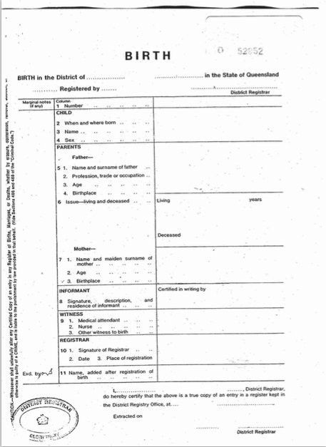 Official Birth Certificate Template Birth Certificate Template 31 - birth certificate template