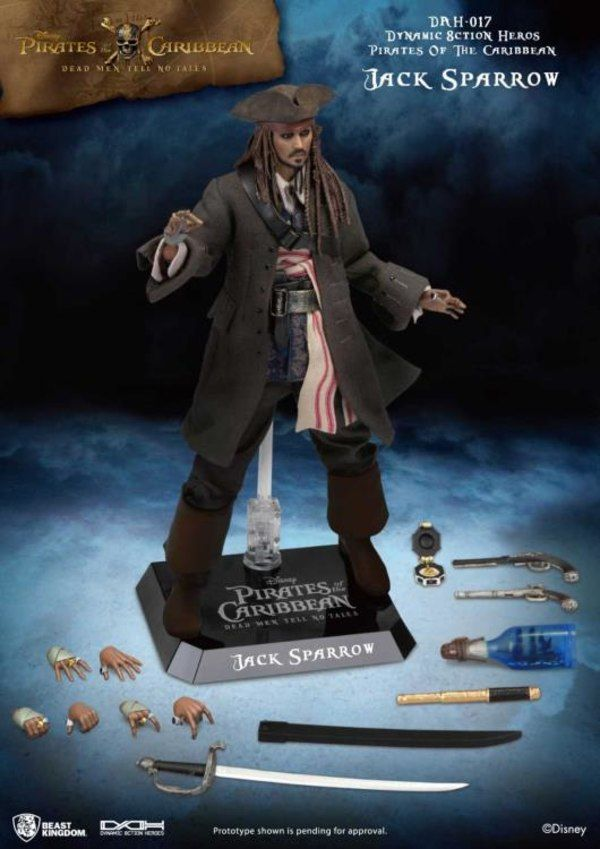 Pirates of the Caribbean Dynamic 8ction Heroes DAH-017 Jack Sparrow From Beast Kingdom