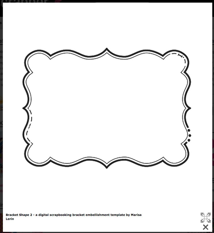 Bracket Shape  FREE Templates! | Cards U0026 Envelopes | Pinterest .  Large Label Template