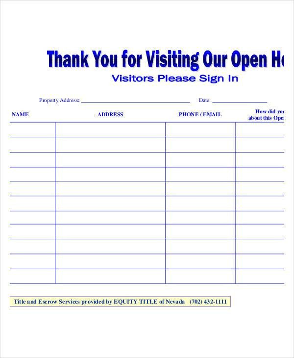 Open House Template Open House Flyer Template 30 Free Psd Format - sample open house sign in sheet template