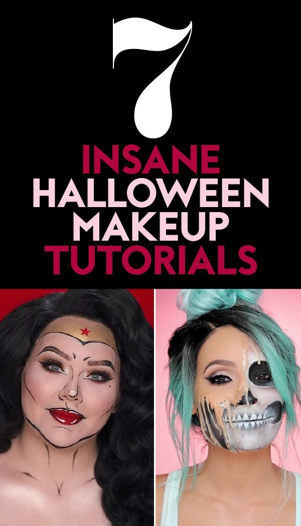 7 insane #Halloween #Makeup tutorials. #HalloweenMakeup #HalloweenCostume