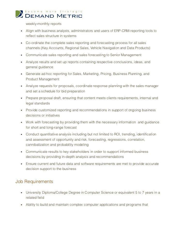 business planning analyst job description - Juve.cenitdelacabrera.co