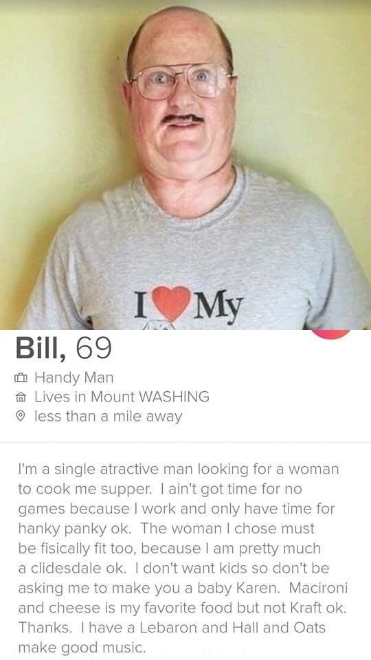 Bill the Tinder troll is officially a legend in our books! #Tinder #Troll #Dating #WTF
