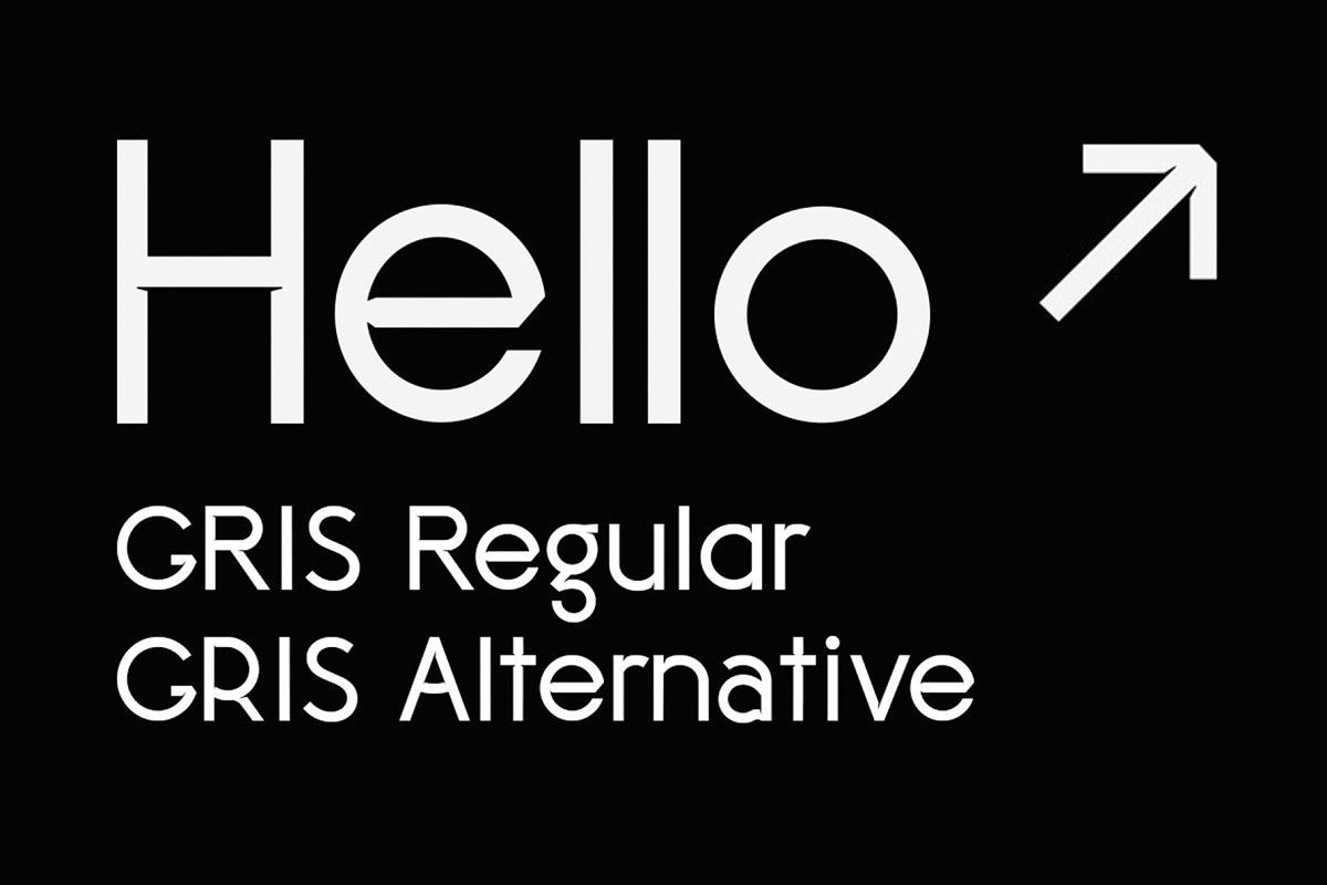 Gris is a simple and experimental typeface with ink traps. This set contains 30 Uppercase characters, 32 Lowercase characters, Numerals, 90 Glyphs and symbols, and 8 directional arrows.