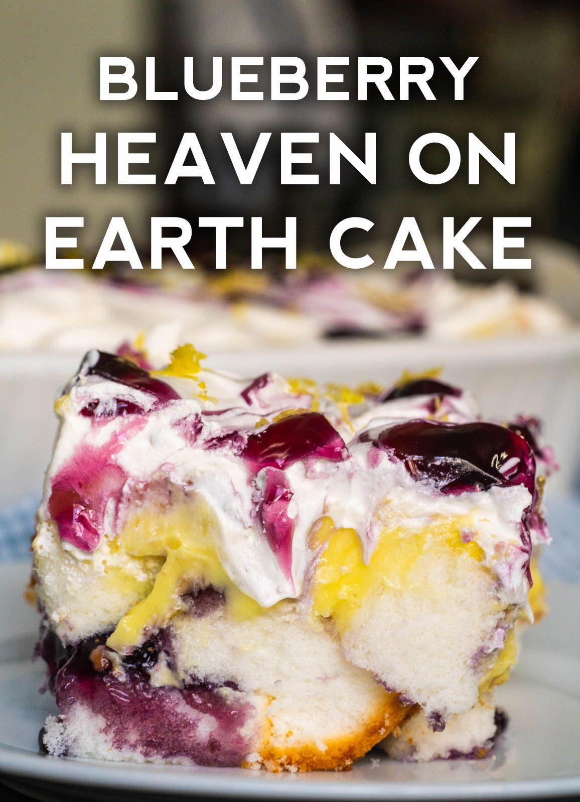 Lemon Blueberry Heaven On Earth Cake