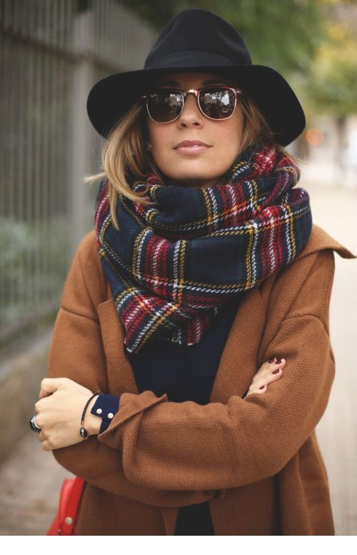 Cozy coat and scarf for fall-winter