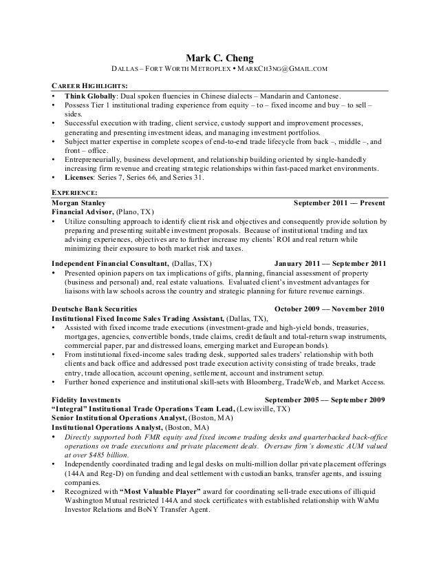 futures broker sample resume futures broker sample resume futures - Food Broker Sample Resume