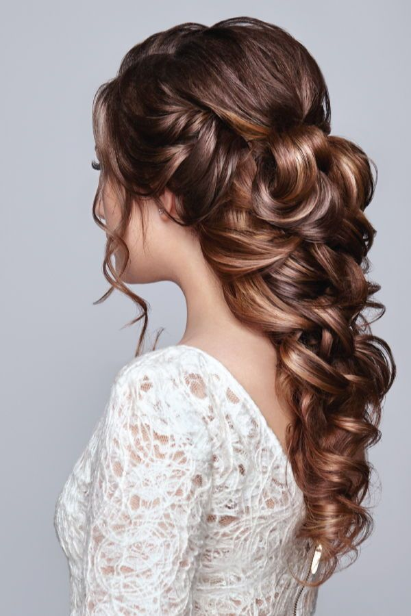 Bridal hair styles! Curls can be done with a 32mm Lange wand!