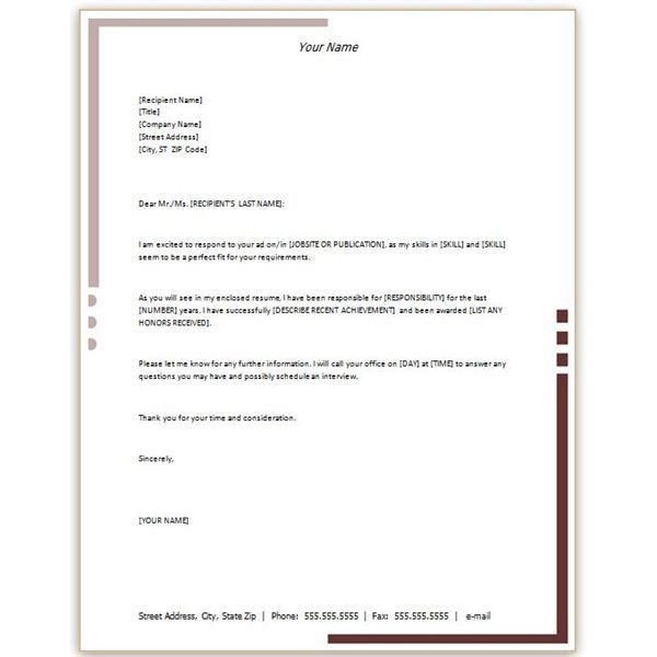 personal letterhead examples