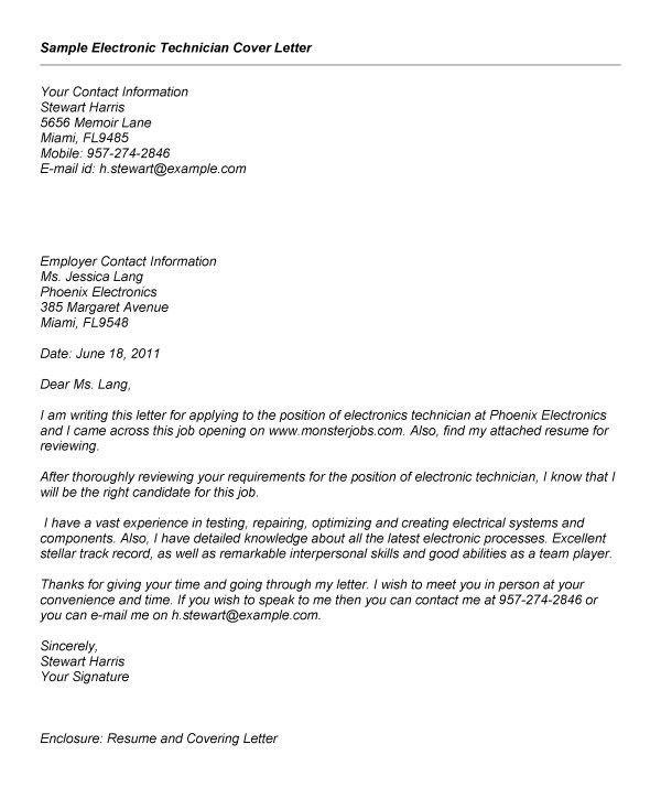 Civilian investigator cover letter
