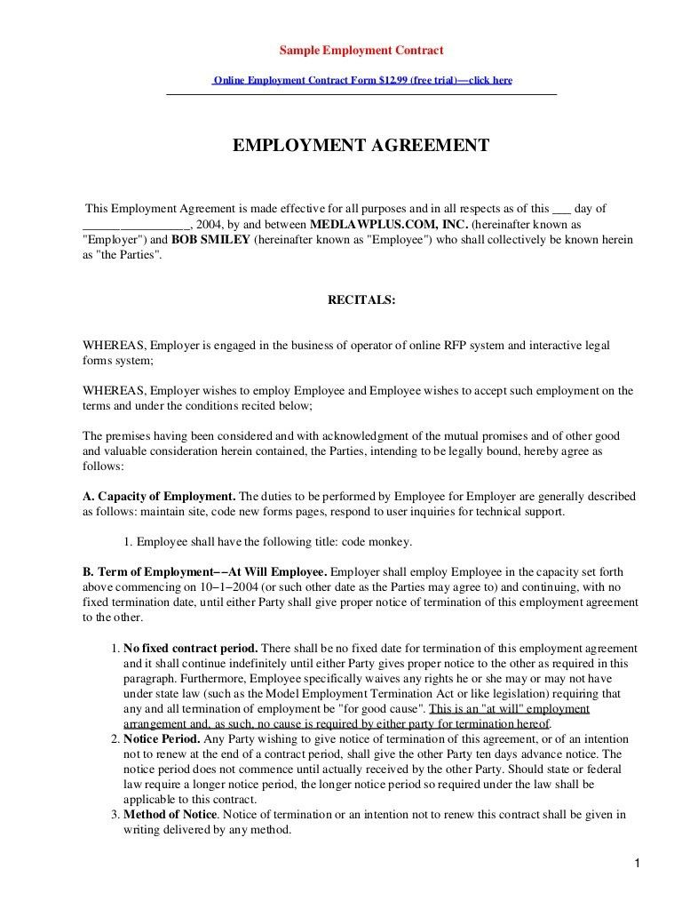 Contract Paper Sample Business Contract Template 10 Free Word Pdf - job agreement contract