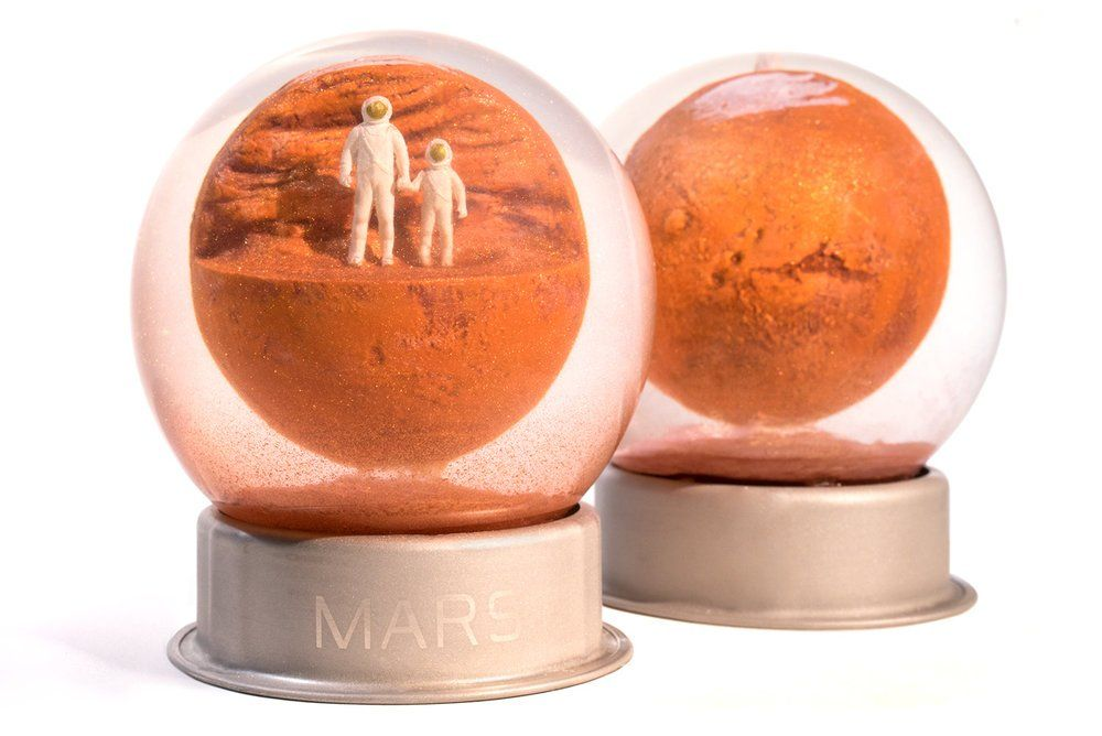A Snow Globe, Except It Doesn't Snow on Mars