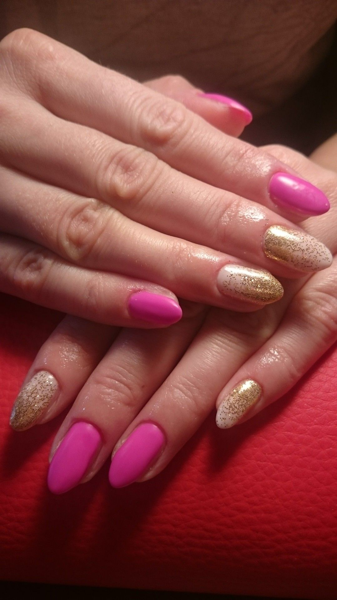 Matowa Fuksja Hybrydy Matte Pink Hybrid Nails Paznokcie Pink