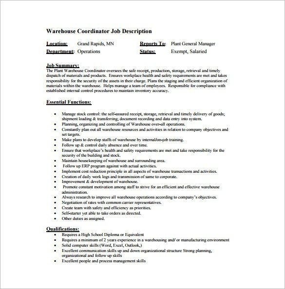 warehousing resume unforgettable warehouse associate resume warehouse  manager job description - Warehouse Associate Job Description