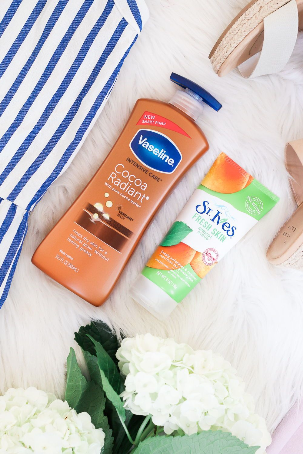 Sponsored Pin: Love Vaseline Cocoa Radiant Lotion and St. Ives Apricot Scrub. They've been 2 of my holy grail skincare products for years, and I got them at Target! Seriously, Target is a goldmine for spring style and beauty finds right now! Now through May 4th or anytime 5/5-5/18, if you buy 4 qualifying hair or personal care products from Unilever (including Cocoa Radiant or St. Ives), you'll get a $5 Target Gift Card. Click through to shop! #targetfinds #hellospring #target #springbeauty