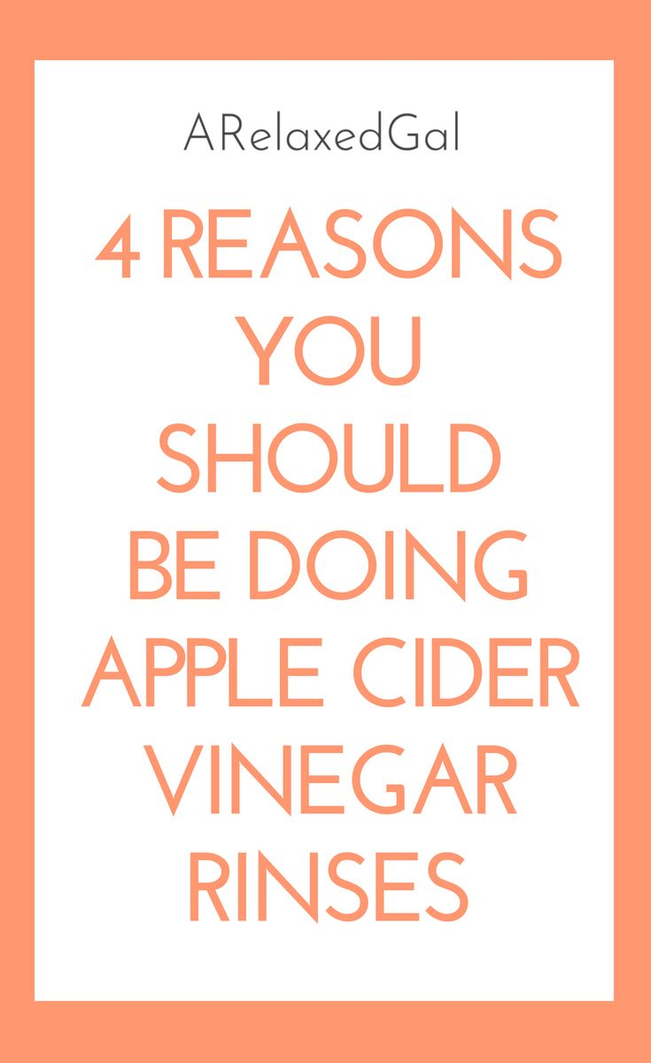 Did you know that apple cider vinegar can be good for your hair? See how rinsing your hair with apple cider vinegar can help it. | A Relaxed Gal #relaxedhair #applecidervinegarforhair #hairrinse #healththair