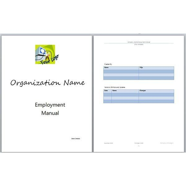 Handbook Template Word Microsoft Word Manual Template Basic And   Handbook  Template Word