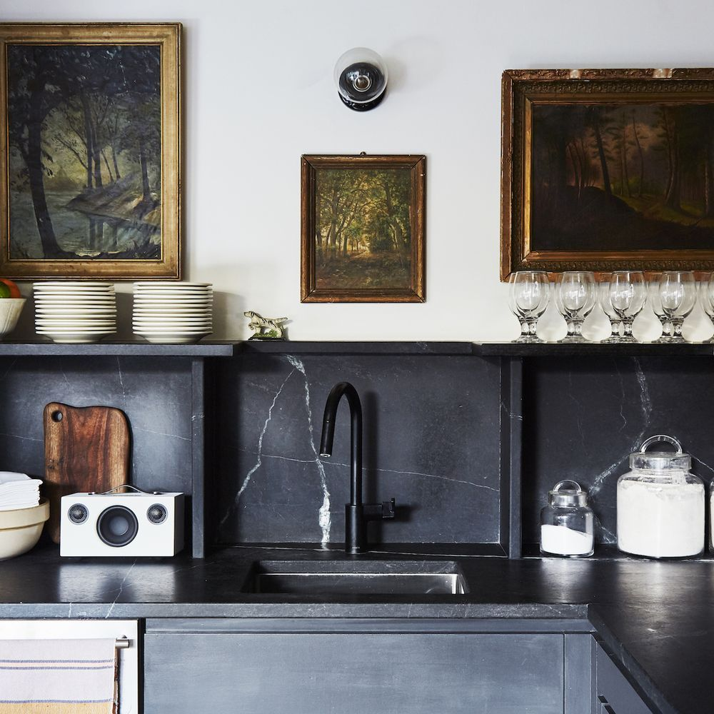 The lodge kitchen is an exercise in aesthetics *and* function.