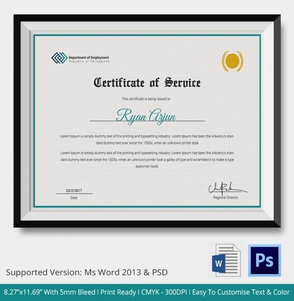 Sample Of Certification Of Employment 16 Sample Certificate Of - certification of employment sample