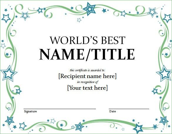 Awards Template Word Award Certificate Template Microsoft Word - awards certificates templates for word