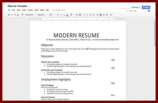 resume templates for students with no experience