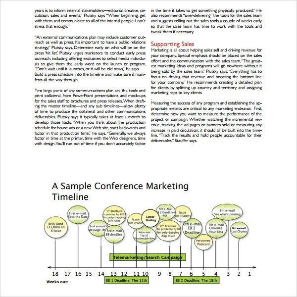 Marketing Campaign Template Word Sample Marketing Campaign - sample marketing timeline template