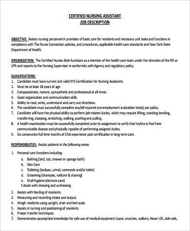beaufiful nurse istant job description images gallery personal