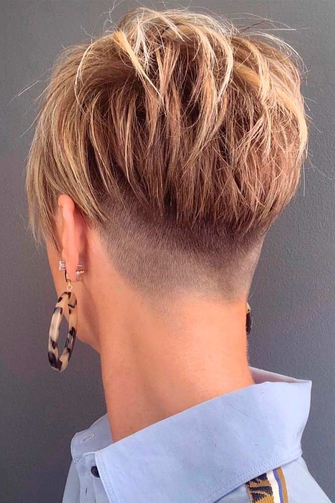 Skin Fade Pixie #shorthairtyles #pixiehairstyles ★  A taper fade haircut for women works for straight as well as curly hair. You canalso go for a short, mid or long option. #glaminati #lifestyle #taperfade