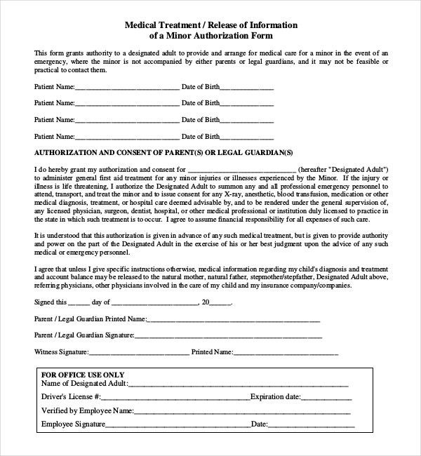 10 best authorization letters images on pinterest letter writing - medical consent forms