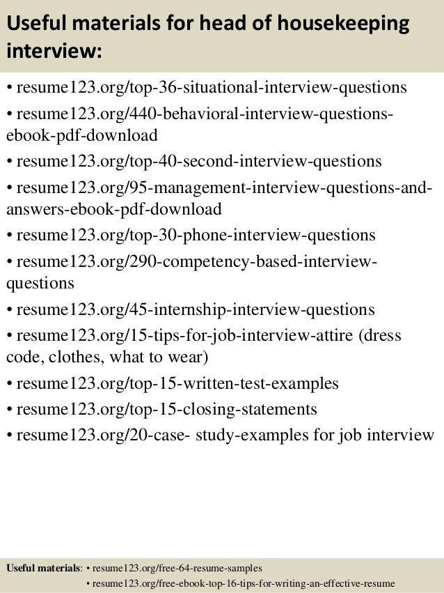 Housekeeping Resume Examples Unforgettable Housekeeper Resume - resume for housekeeping