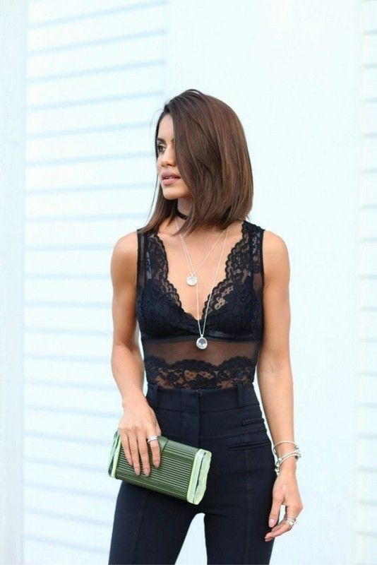 Cool black lace top and pants
