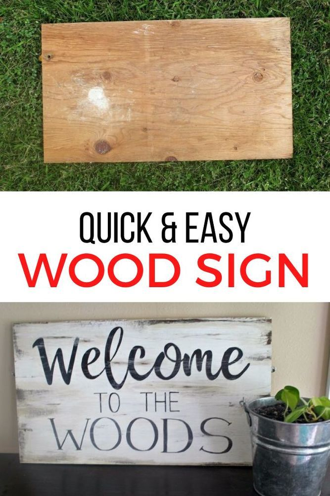 DIY Rustic Wood Sign for Home