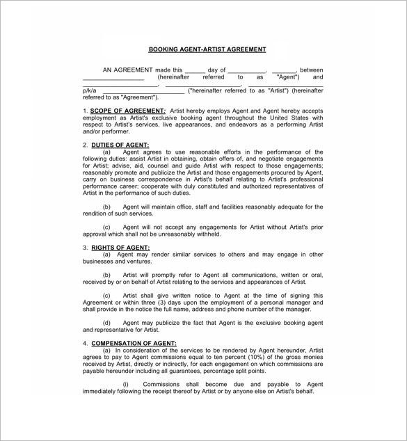 Agent Agreement Template Free Sales Agency Agreement Template - sales agent contracts